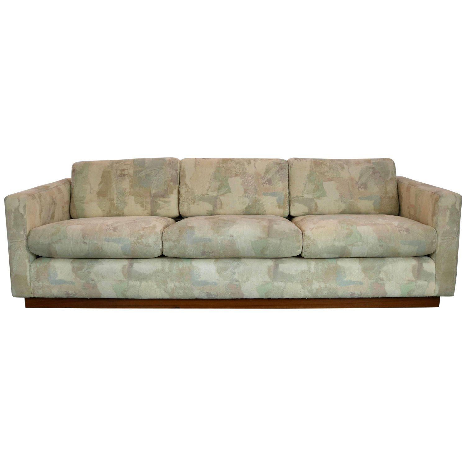 Floating Tuxedo Style Sofa In The Manner Of Milo Baughman Can We