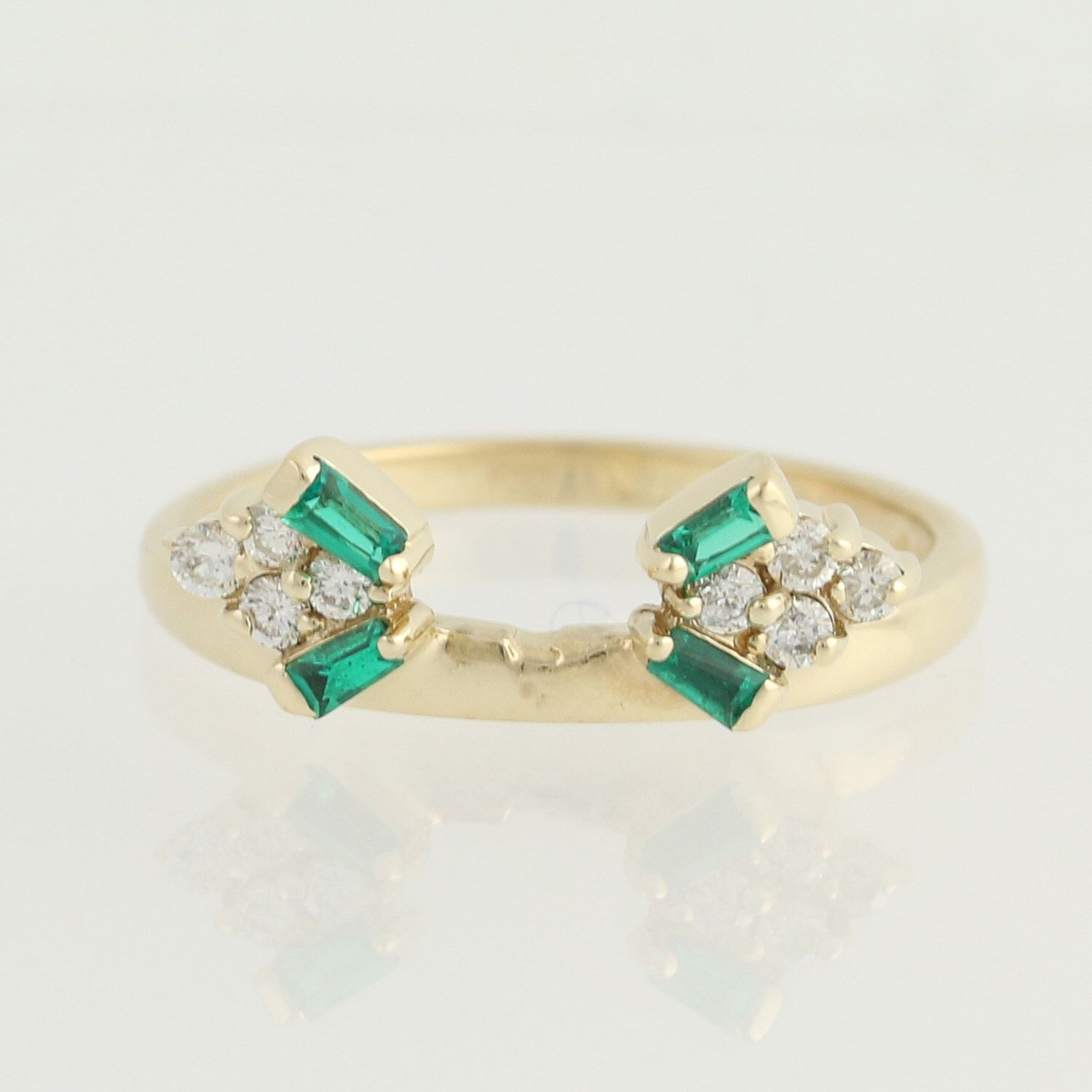 emerald rings differences between the real and synthetic. Synthetic Emerald \u0026 Diamond Enhancer Wedding Band - 14k Yellow Gold Ring .24ctw L9988 By Rings Differences Between The Real And E
