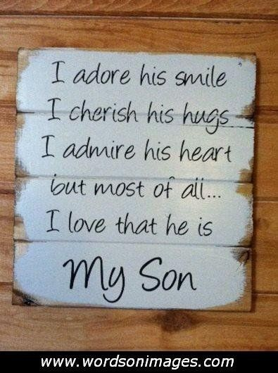 I Love My Son Quotes And Sayings New I Love My Son Quotes  Ss  Pinterest  Son Quotes Jeremiah 29 11