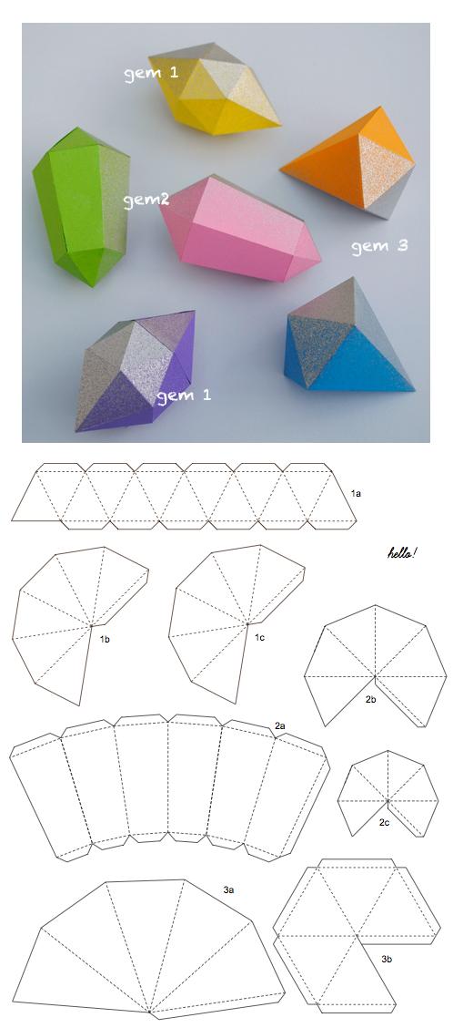 Diy Paper Diamond Diamanten Origami Vorlageorigami Diamanten Vorlage Paper Crafts Origami Diamond Diy Paper