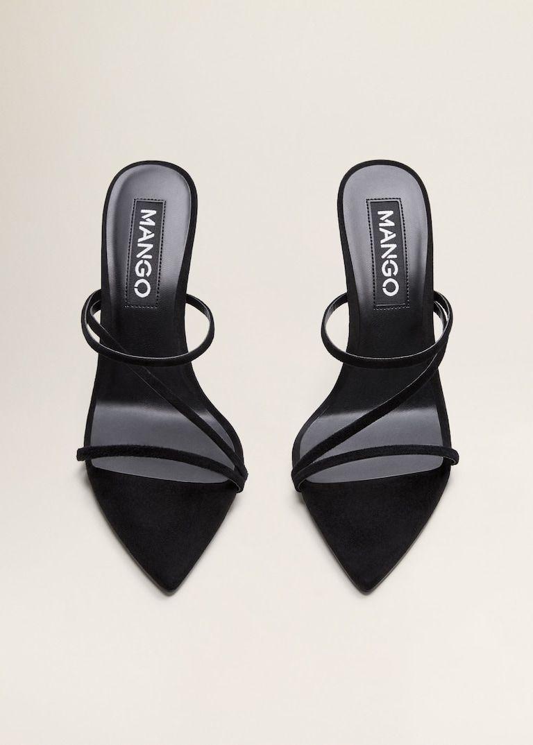Sandales à lanières cuir
