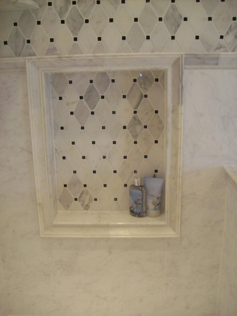 HOW TO DO AN INSET SHELF - VERY HELPFUL FOR DIY! Natural stone tile ...