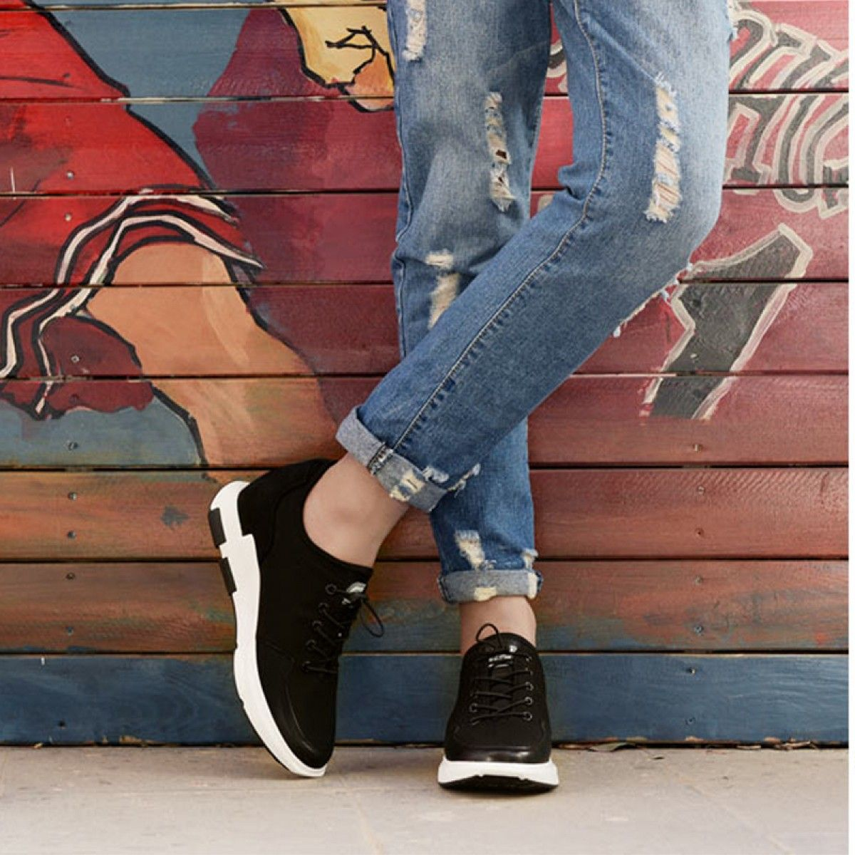 Lightweight casual campus shoes 2.4inch