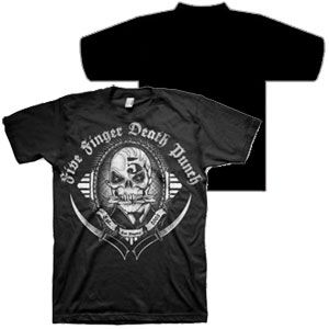 Five Finger Death Punch Get Cut Shirt  Officially licensed Five Finger Death Punch t-shirt featuring a cool front print. Each 100% cotton t-shirt is a standard fit men's t-shirt. Black.