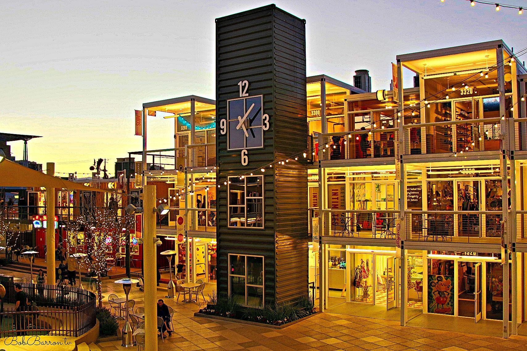 Container Park: é um shopping feito de 30 contentores e ...