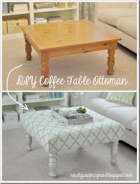 Lujo Cómo Utilizar Otomana Como Muebles Mesa De Café Patrón ...