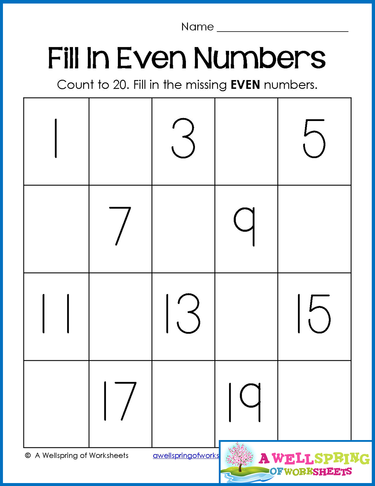 Number Sequencing Worksheet Middle School