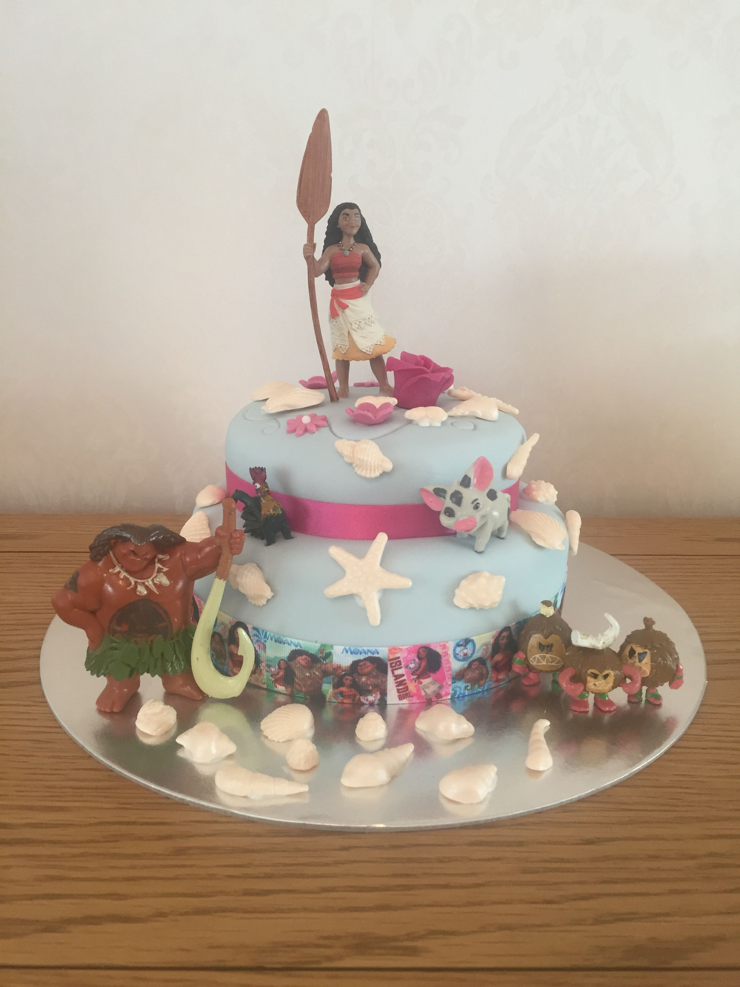 Character Birthday Cakes Asda ~ Moana themed budget birthday cake £ asda cake jazzed up with