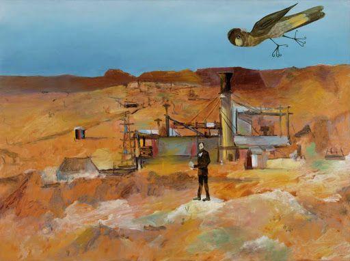 """""""Pretty Polly Mine"""", Sidney Nolan, 1948, ripolin enamel on hardboard"""
