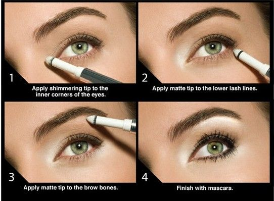 Como usar iluminador para ojos #makeup #highlighter #esposaperfecta