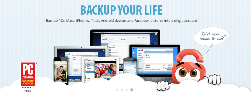 Idrive Offers Ios Users 100gb Of Cloud Storage For 0 99 A Year Cloud Storage Storage Clouds