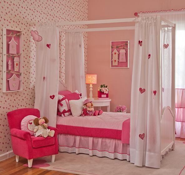 Decoraç u00e3o Pink para Quarto de Menina, Decoraç u00e3o de Quarto Infantil Vanessa u2026 children room  # Decoração De Quarto Infantil Masculino E Feminino Juntos
