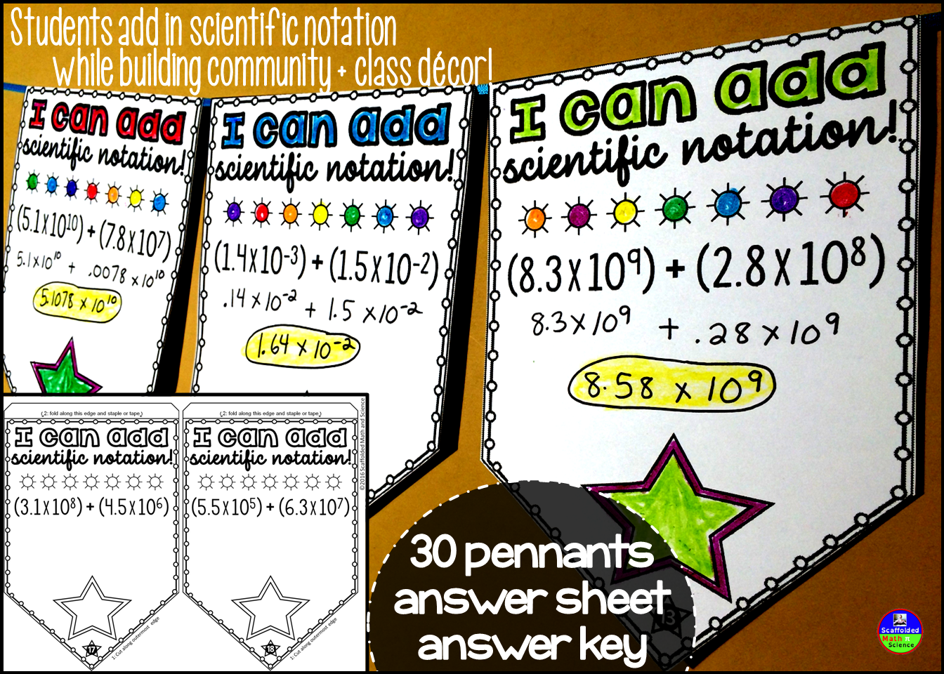Adding Scientific Notation Pennant
