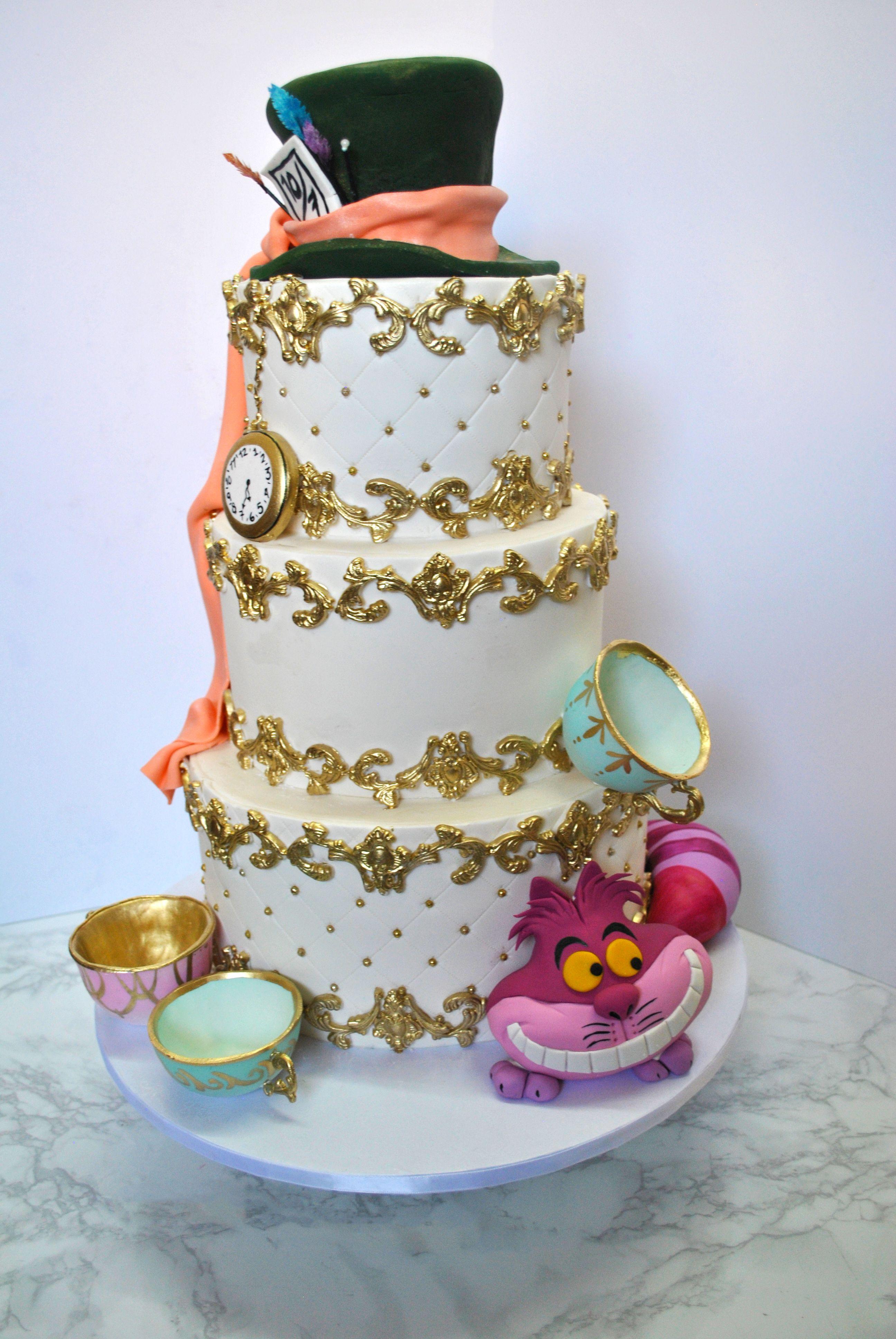 Alice In Wonderland Three Tier Cake Sweetesbakeshop