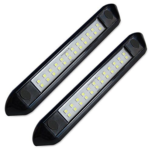 Dream Lighting 12 Volt Auto Waterproof Awning Lights Cool White Rv Exterior Led Lighting For Marine Boat Camper Trailer And Motorhome 9 84 Inch Black Shell Pack Of 2 Waterproof Awnings Awning Lights
