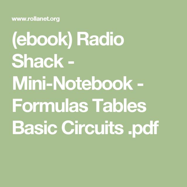 ebook) Radio Shack - Mini-Notebook - Formulas Tables Basic Circuits ...