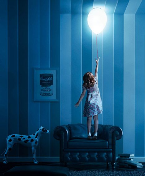 This Lamp Is Shaped Like A Helium Balloon Floating Against The Ceiling Or Wall The Balloon Lamp Is Made Of Translucent Balloon Lights Balloon Ceiling Balloons