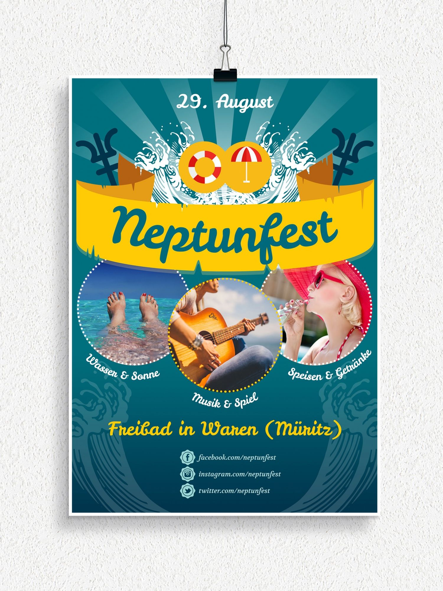 Photo of Flyer and poster templates for Neptune Festival and Children's Day