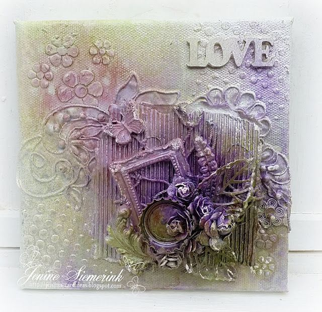 Jenine's Card Ideas: Mixed Media canvas LOVE