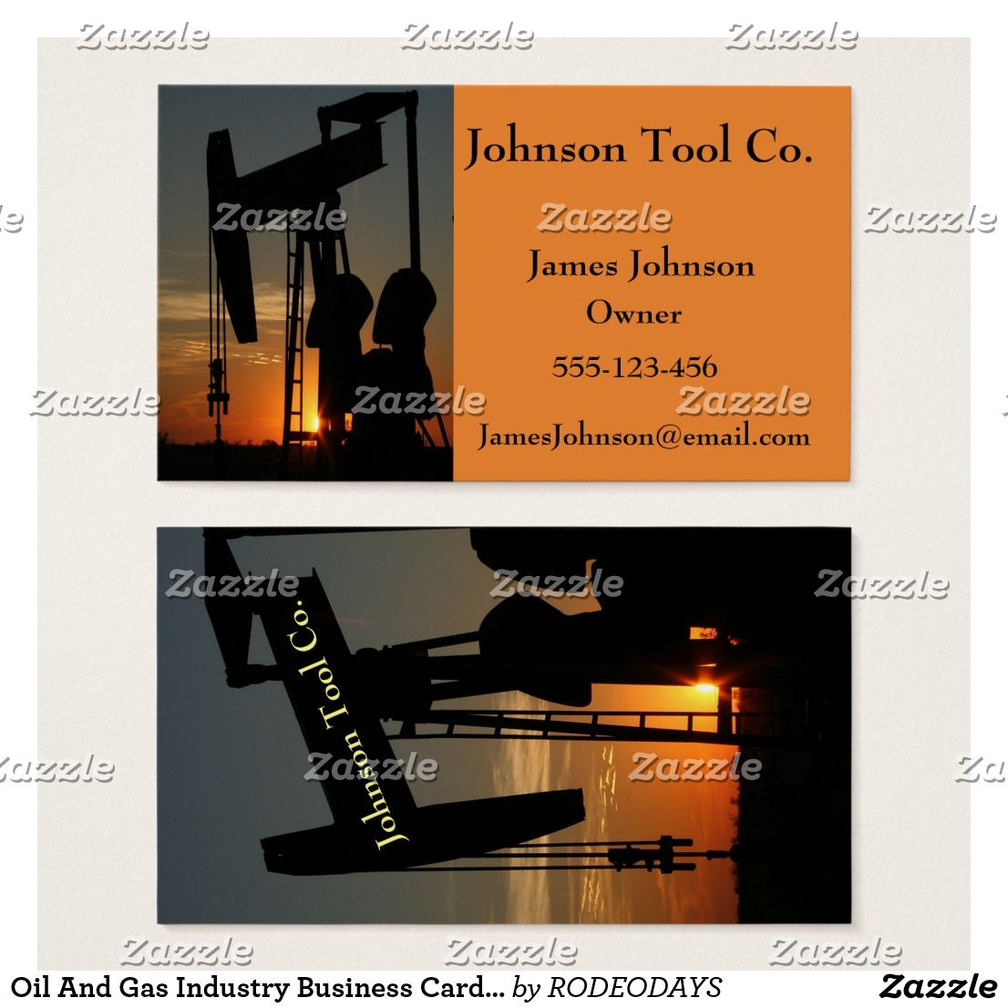 Oil And Gas Industry Business Cards 2 Side | Oil and Gas Drilling ...