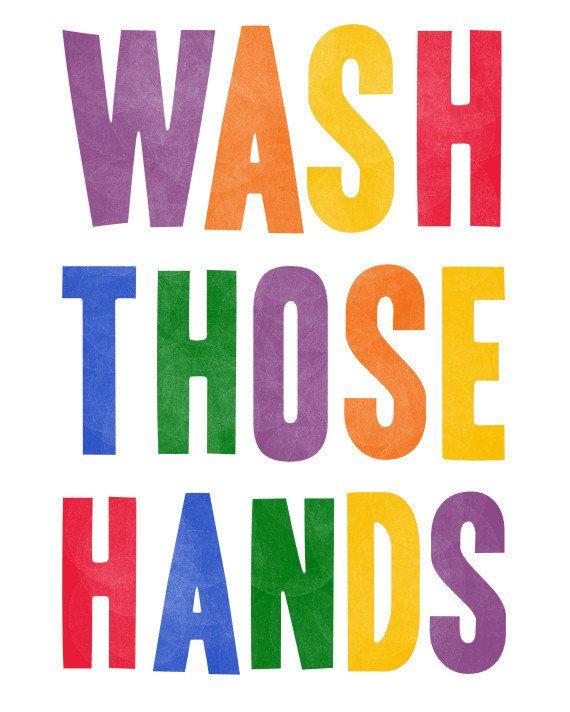 Bathroom Sign Boy Girl wash your hands bathroom quote print kid bathroom rules wash those