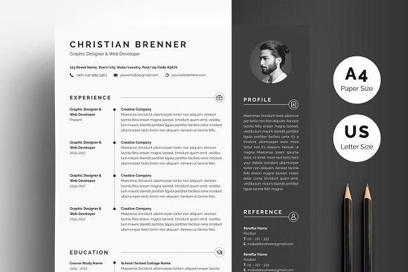 modern resume  u0026 cover  with images