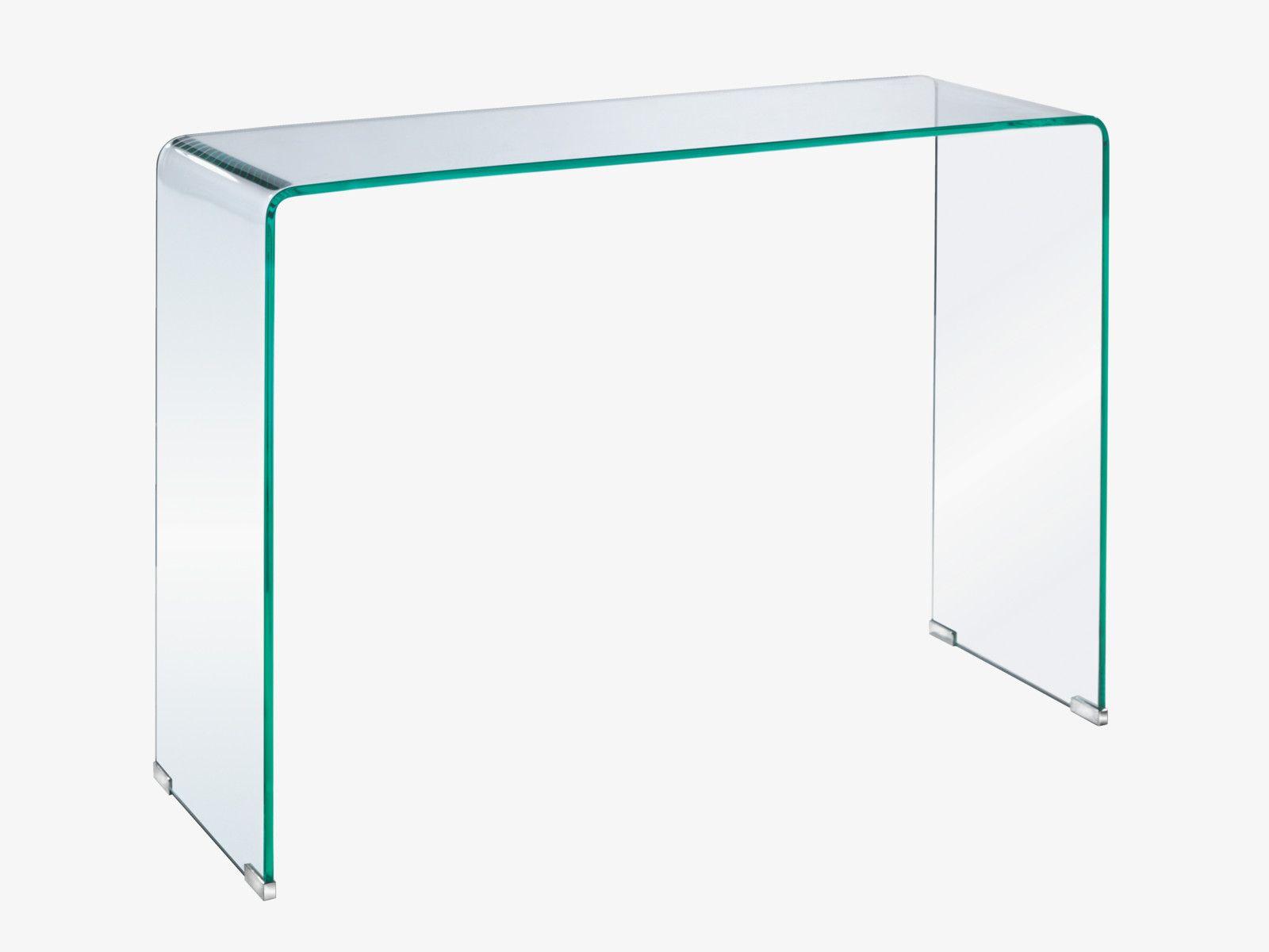 Hallway furniture habitat  GALA CLEAR Glass Glass console table  Tables u Consoles HabitatUK