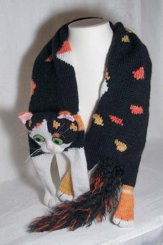e0b53d44609a4 Schal Calico Katze Schal stricken Mohair Multi Color von Eastalace ...