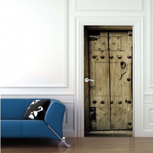 Vinyl door sticker old door viniles para puertas pinterest interior renovation with door stickers planetlyrics Image collections