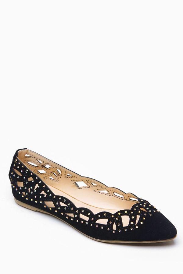 Bamboo Lazer Cut Black Jem Flats @ Cicihot Flats Shoes online store:Women's Casual Flats,Sexy Flats,Black Flats,White Flats,Women's Casual S...