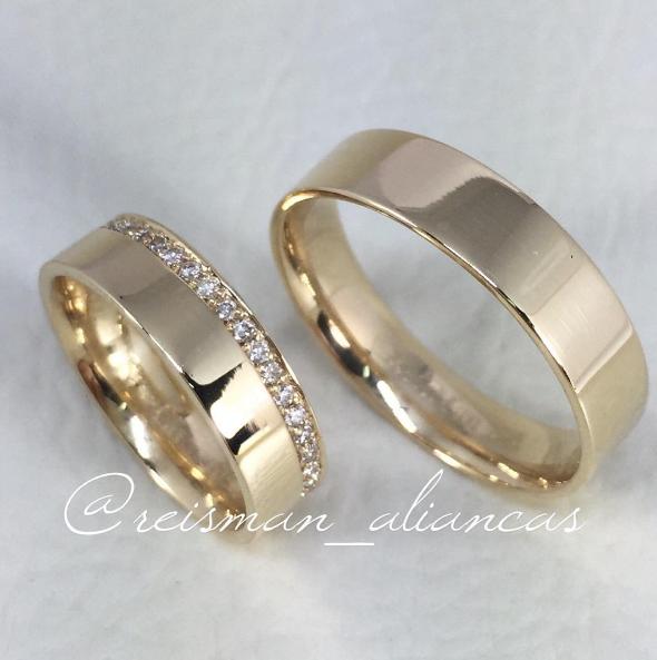 b49f0cbb238 Alianças Itália ♥ Casamento e Noivado em Ouro 18K - Reisman