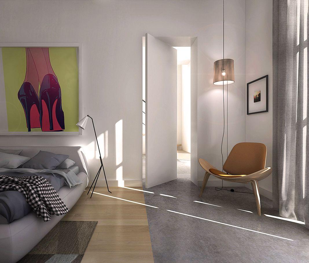 Progetto di ristrutturazione camera da letto con angolo studio modellatore 3d archicad 16 0 - Angolo studio in camera da letto ...