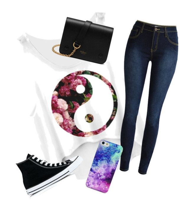 """""""Untitled #5"""" by morganflaska on Polyvore featuring Converse and Mulberry"""