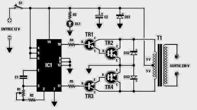 Converter 12 VDC ke 230 VAC (Inverter Circuit Diagram