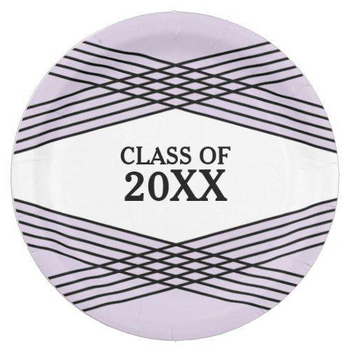 Elegant Deco Purple Graduation Paper Plates  sc 1 st  Pinterest & Elegant Deco Purple Graduation Paper Plates   Purple Graduation ...