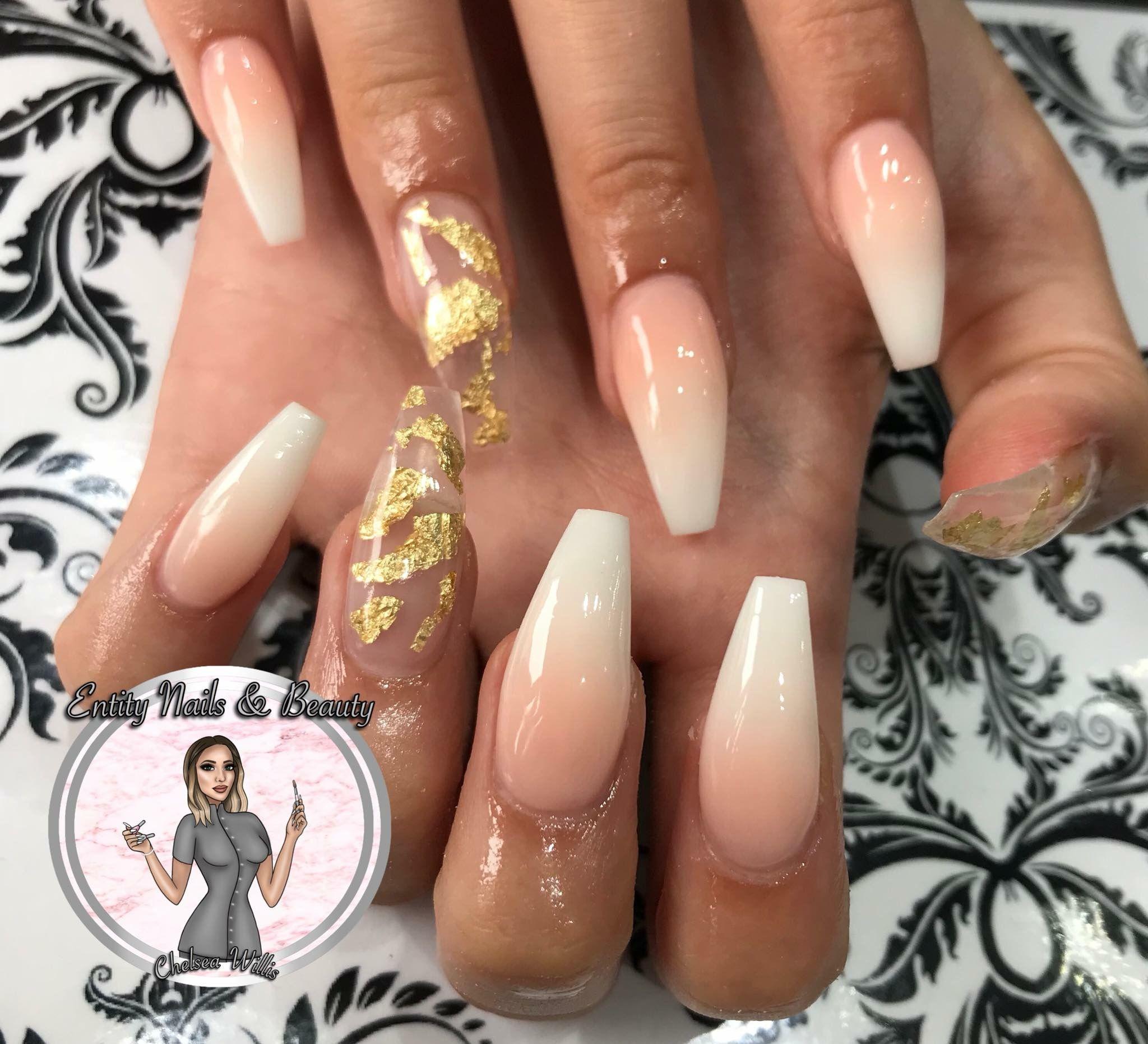 Ombre Acrylic Nails Ombre Acrylic Nails Nails Gold Nails
