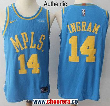 e437864f0 Men s Nike Los Angeles Lakers  14 Brandon Ingram Royal Blue NBA Authentic  Hardwood Classics Jersey