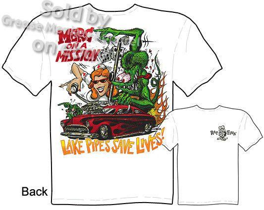 Signature Rat Fink T Shirt Ed Roth Clothing Big Daddy Tee Sz M L XL 2XL 3XL