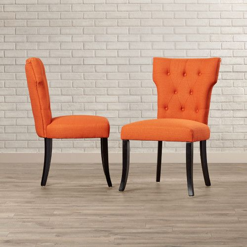 Found It At Joss Main Victoria Side Chair Upholstered Dining Chairs Dining Chairs Wayfair Living Room Chairs