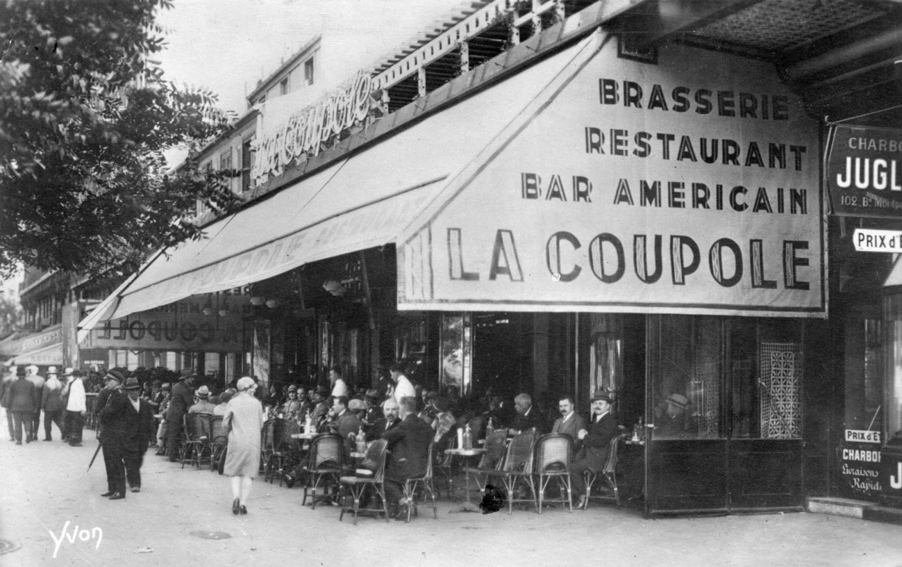 Bar Terrasse Montparnasse Montparnasse The Paris Of The Belle Epoque 1927 In 2019