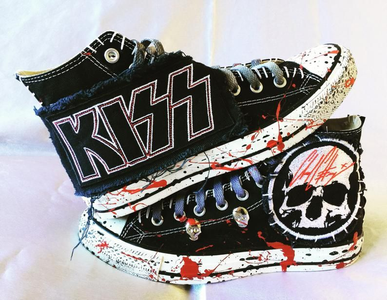 chaussures style converse rock