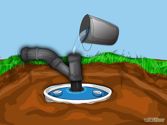 Construct a small septic system toilets rural area and for Build a septic tank