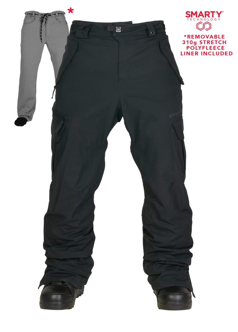 686 Mens Snowboard Pants Authentic Smarty Cargo Black