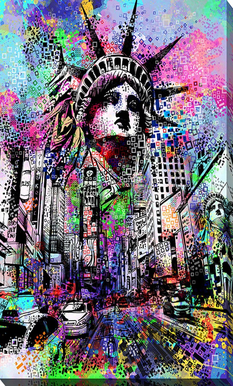 Time Square - Wrapped Canvas Print