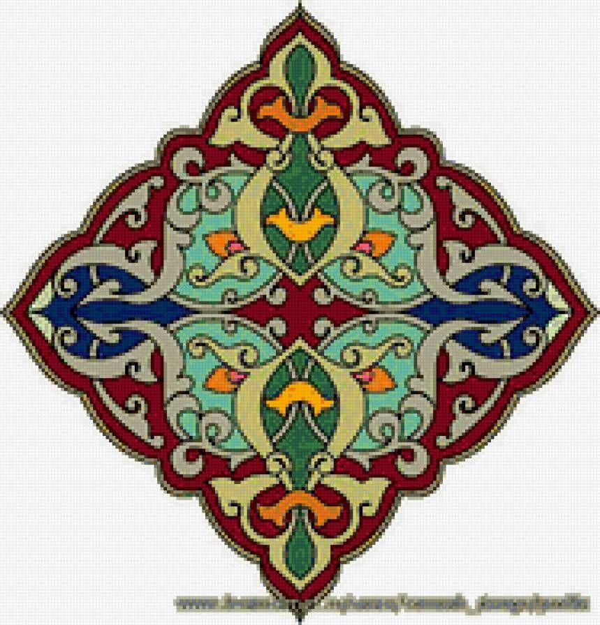 Арабские узоры вышивки
