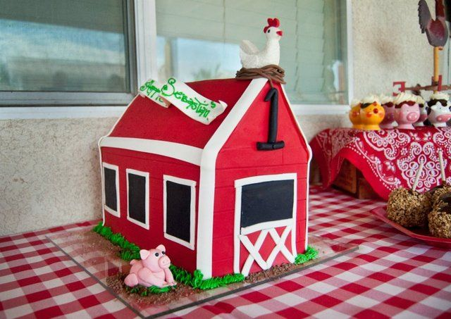 love this cake for a farm party