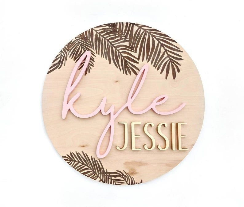 Palm Leaves Wooden Name Sign Tropical Leaves Baby Name Etsy In 2020 Wooden Name Signs Name Signs Custom Wood Signs Look no further than these artificial tropical leaves. pinterest