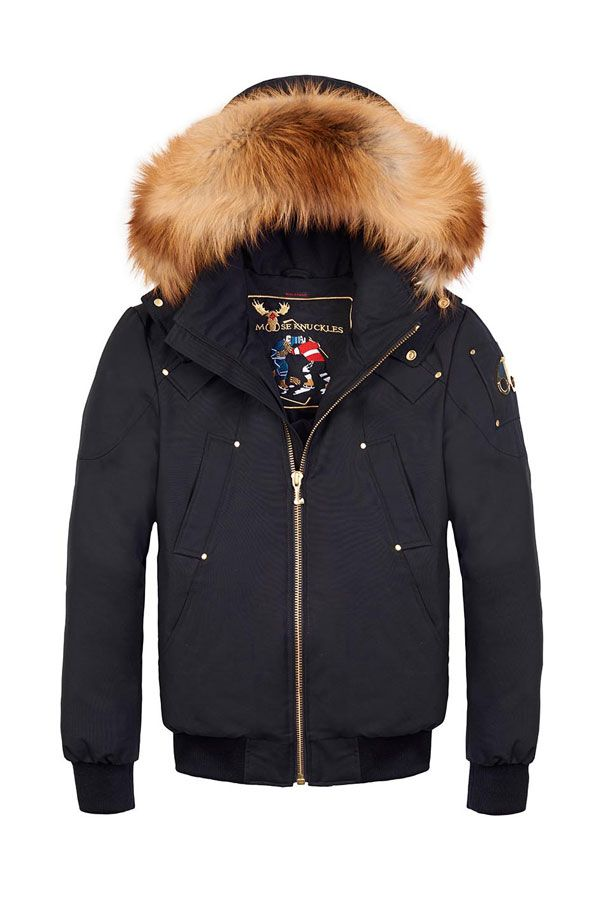 Knuckles Black Fox With Bomber Fur Moose Deer Red fqwppx