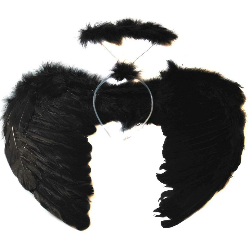 Adults Kids Feather Fairy Angel Wings Hen Night Party Event Supplies Fancy Dress