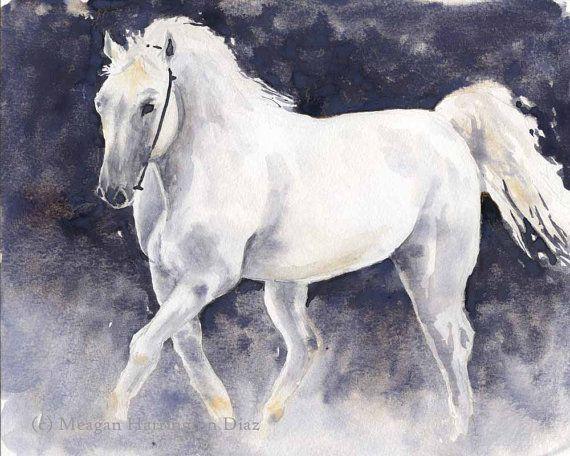 Horse Art Fine Art Print Horse Painting Watercolor Horse
